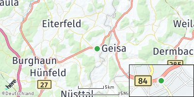 Google Map of Rasdorf bei Hünfeld