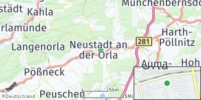 Google Map of Neustadt an der Orla