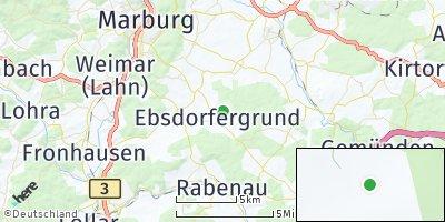 Google Map of Ebsdorfergrund