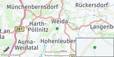 Google Map of Steinsdorf bei Gera