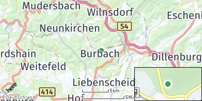 Google Map of Burbach