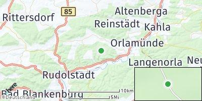Google Map of Uhlstädt-Kirchhasel