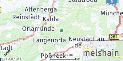 Google Map of Hummelshain
