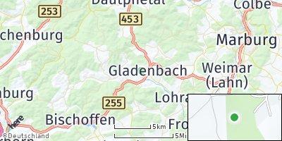 Google Map of Gladenbach