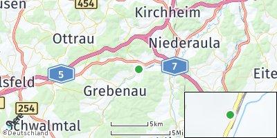 Google Map of Breitenbach am Herzberg
