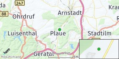 Google Map of Plaue