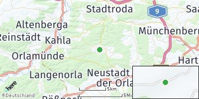 Google Map of Trockenborn-Wolfersdorf