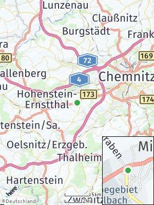 Here Map of Mittelbach bei Chemnitz