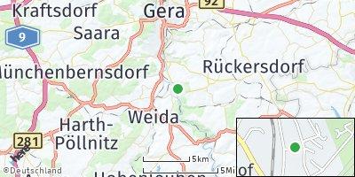 Google Map of Wünschendorf / Elster