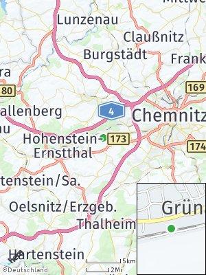 Here Map of Grüna bei Chemnitz