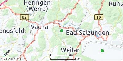 Google Map of Merkers-Kieselbach