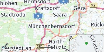 Google Map of Münchenbernsdorf