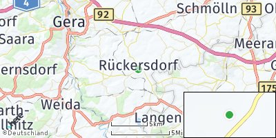Google Map of Rückersdorf bei Gera