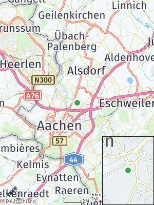 Here Map of Würselen