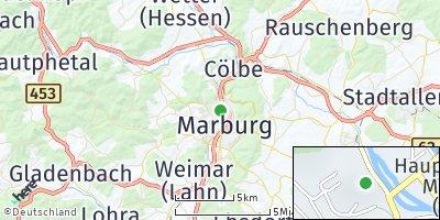 Google Map of Marburg / Lahn