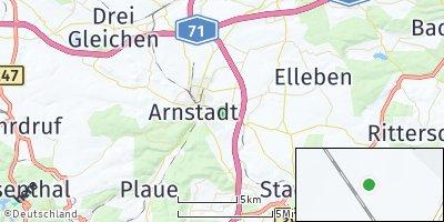 Google Map of Dornheim bei Arnstadt