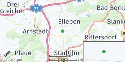 Google Map of Bösleben-Wüllersleben