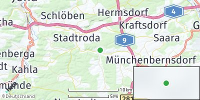 Google Map of Lippersdorf-Erdmannsdorf