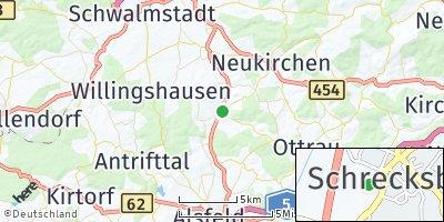Google Map of Schrecksbach