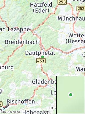 Here Map of Dautphetal