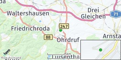 Google Map of Hohenkirchen bei Gotha