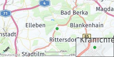 Google Map of Kranichfeld
