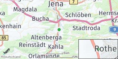 Google Map of Rothenstein bei Jena