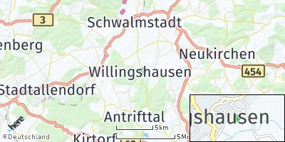 Google Map of Willingshausen