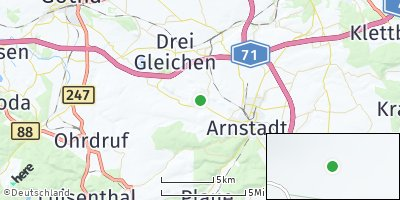 Google Map of Wachsenburggemeinde