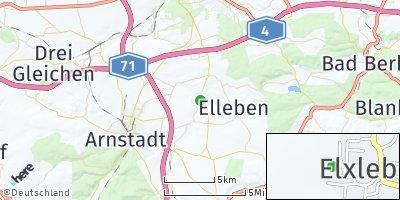 Google Map of Elxleben bei Arnstadt