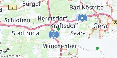 Google Map of Reichenbach bei Hermsdorf