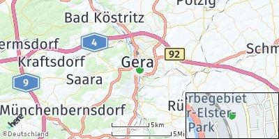 Google Map of Gera