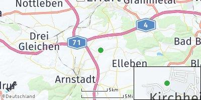 Google Map of Kirchheim bei Arnstadt