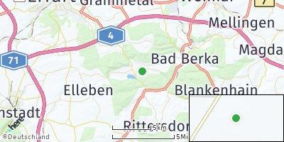 Google Map of Tonndorf bei Bad Berka