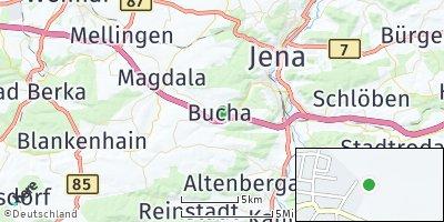 Google Map of Bucha bei Jena