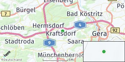 Google Map of Kraftsdorf
