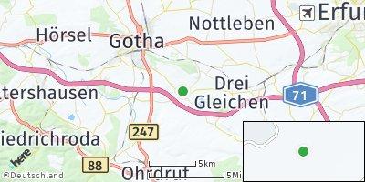 Google Map of Günthersleben-Wechmar