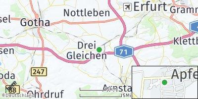 Google Map of Apfelstädt