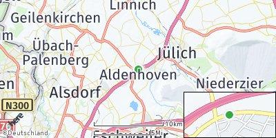 Google Map of Aldenhoven bei Jülich