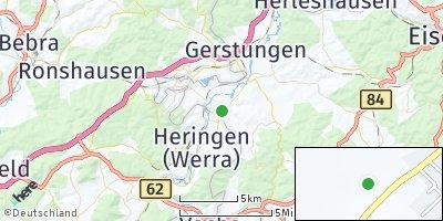 Google Map of Dippach bei Berka