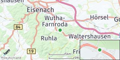 Google Map of Seebach bei Eisenach
