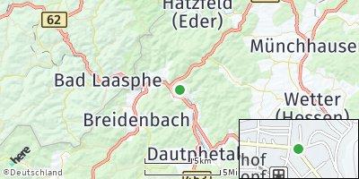 Google Map of Biedenkopf