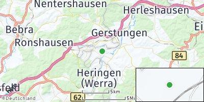 Google Map of Dankmarshausen