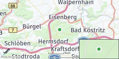 Google Map of Weißenborn bei Hermsdorf