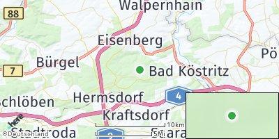 Google Map of Tautenhain bei Hermsdorf