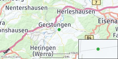Google Map of Berka / Werra