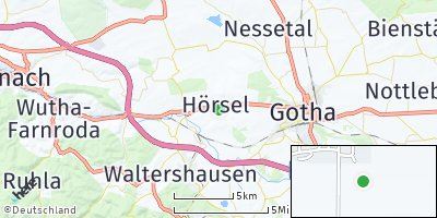 Google Map of Aspach bei Gotha
