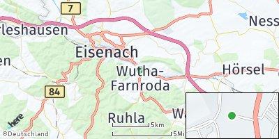 Google Map of Wutha-Farnroda
