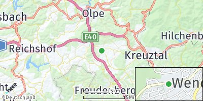 Google Map of Wenden