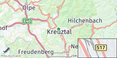 Google Map of Kreuztal